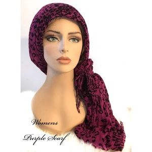 Accessories - Beautiful Womens Leopard Print Scarf
